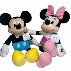 Disney baby Mickey and Minnie Mouse plush doll